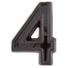 NEMMEGADOTT SB kerámia házszám 4 barna 12cm