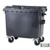 Külső hulladéktároló, Lapos fedelű műanyag konténer - 700 L