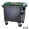 1100 L Műanyag Lapos fedelű Konténer - Szelektív ÜVEG