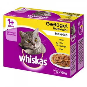 Whiskas 1+ szárnyas-választék aszpikban - 12 x 100 g
