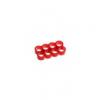 E22 , 8-slot kábelrendezõ piros 4 mm vastag kábelhez