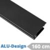 ALU-Design függönyarnis, belső csúszású rúd, fekete (160 cm)