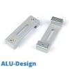 ALU-Design függönykarnis, 2 soros mennyezeti tartó, szürke