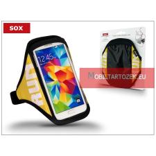 """SOX univerzális kartok sportoláshoz, max. 5,5"""" méretű készülékhez, 30-40 cm karvastagságig - sárga tok és táska"""