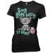 """Big Bang Theory """"Sing Kitty"""" póló, női"""