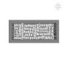 ABC gránit szellőzőrács 17x37 hűtés, fűtés szerelvény