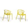 Beliani Étkezoszék - Kerti szék - Sárga muanyag szék - BEND