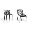 Beliani Kerti szék - Fekete muanyag szék - MORGAN