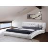 Beliani Luxus franciaágy 160x200 cm - Bor ágy - Ágyrács - Fehér - LILLE