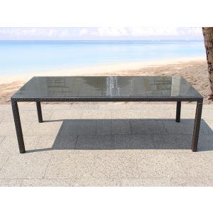 Beliani Rattan kerti asztal - Kerti bútor - Étkezoasztal - 220 cm -ITALY