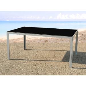 Beliani Alumínium kerti bútor - Elegáns 160 cm-es étkezoasztal - CATANIA