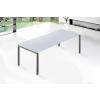 Beliani Fehér étkezoasztal - Rozsdamentes asztal - 220 cm - ARCTIC II