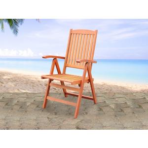 Beliani Fa kerti szék - Szék állítható háttámlával - Kerti bútor - TOSCANA
