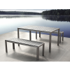 Beliani Alumínium kerti garnitúra - 180 cm-es asztal - 2 pad - Szürke - Polywood - NARDO
