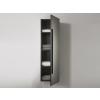 Beliani Fürdoszoba szekrény - Függesztett polc - Polcos szekrény - Fekete - MATARO