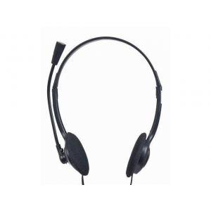 Gembird microphone . stereo headphones with volume control, black color