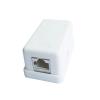 Gembird single port surface mount box 1xRJ45 cat.5 half-shielded keystone, white