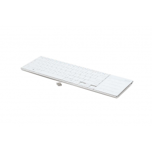 Gembird Keyboard Phoenix slimline wireless 2 4GHz with touchpad White US layout