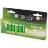 Techly alkalikus elem, 1.5V AA LR6, 12 darab