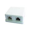 Gembird single jack surface mount box 2xRJ45 cat.5 half-shielded keystone, white
