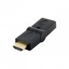 4world Adapter HDMI [M] > HDMI [F], angled 180°, fekete