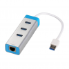 iTec i-tec USB 3.0 Metal HUB 3 Port with Gigabit Ethernet Adapter