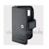 Nokia CP-312 patentos oldarna nyíló gyári bőr fliptok fekete (N85)**