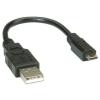 ROLINE USB 2.0 A - microUSB B kábel (0.8m)
