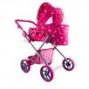 Nagy Babakocsi táskával sötét rózsaszín, 70 cm