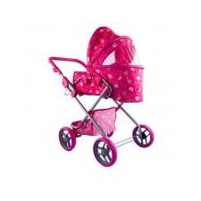 Nagy Babakocsi táskával sötét rózsaszín, 70 cm játék babakocsi