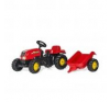 Rolly Kid-X pedálos traktor utánfutóval lábbal hajtható járgány
