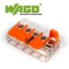 WAGO új karos (csatos) vezeték összekötő, 5 vezeték nyílásos