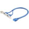 Hátlapi kivezetés USB 3.0