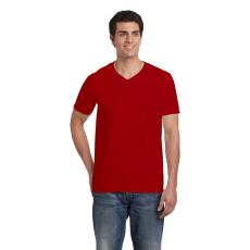 GILDAN V. nyakú férfi póló, piros (Gildan V. nyakú férfi póló, piros)
