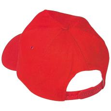 Vászon baseballsapka, piros (5 paneles baseballsapka pamutból)