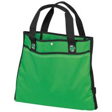 Bevásárló táska, rövid füllel, zöld