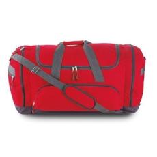 Sport, utazótáska cipzáras, piros (Utazótáska nagy cipzárral, oldal- és elsõ zsebbel. 600D poliészter.)