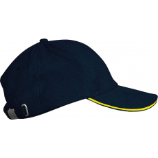 KARIBAN sapka, 6 paneles,U, navy/yellow (Kariban sapka, 6 paneles,U, navy/yellow)