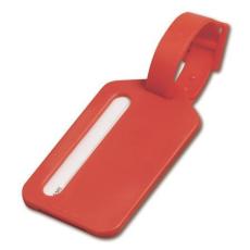 Poggyászazonosító, piros (Poggyászazonosító. Mûanyag.)