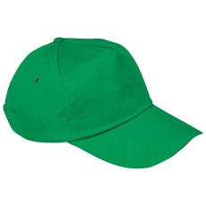 Vászon baseballsapka, zöld (5 paneles baseballsapka pamutból)