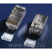 Netrack plug RJ45 8p8c,FTP for stranded cable, cat. 6 (100 pcs.)