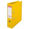 Iratrendező, 75 mm, A4, PP/PP, élvédő sínnel, ESSELTE Standard, sárga