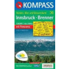 Kompass 036. Innsbruck turista térkép Kompass 1:35 000