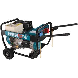 Heron benzinmotoros áramfejlesztő, 6,8 kVA, 400/230 V, hordozható (EGI 68-3) (Áramfejlesztő)