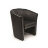 MAYAH Ügyfélváró fotel, bonded bõr, MAYAH Lounge, fekete