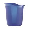 HELIT Szemetes, 13 liter, HELIT Economy, áttetszõ kék