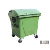 Külső hulladéktároló, Gömbölyű fedelű műanyag konténer - 1100 L zöld színben HUL-0014-2