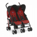 CHICCO ECHO TWIN EVOLUTION IKERBABAKOCSI:-Garnet.