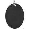Nemesacél medál, Fekete, 25 x 35 mm