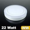 CR80 LED panel (kör alakú) 18+4 Watt - meleg fehér fényű